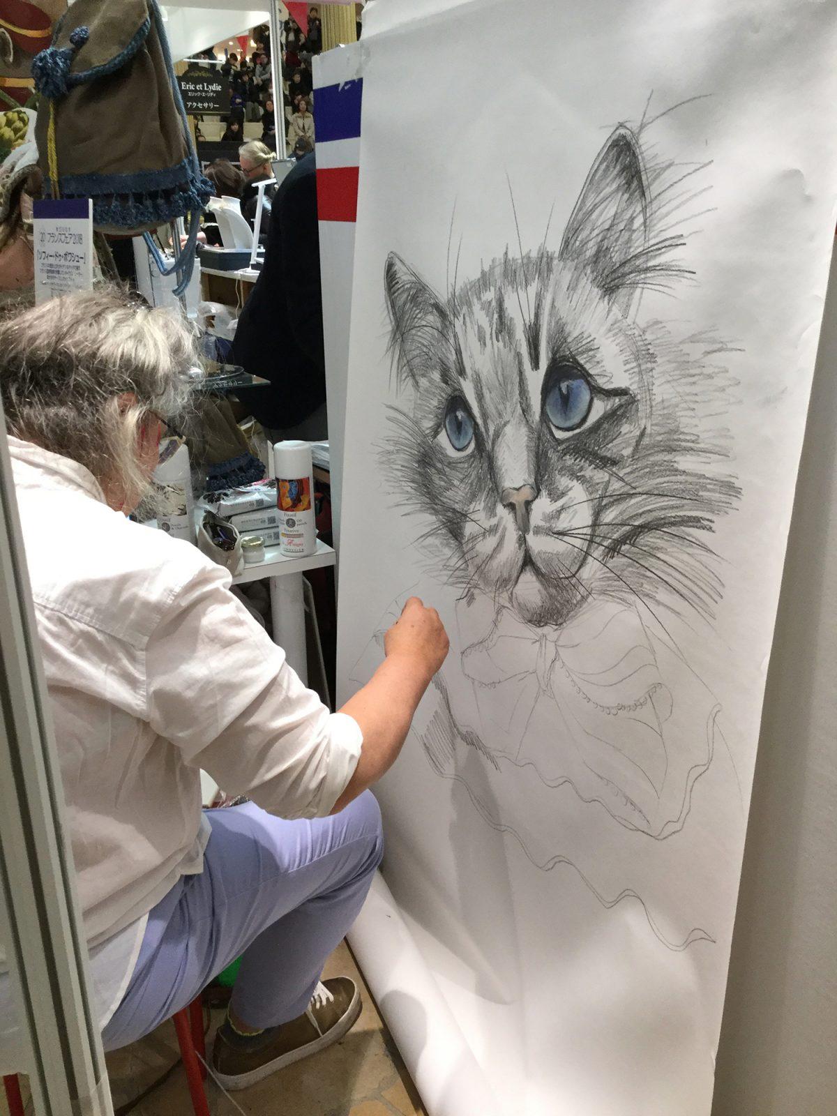 Grand portrait sophie de boissieu hankyu chat