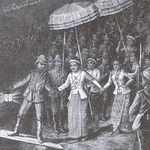 Roi-mindon-et-européens-a-mandalay