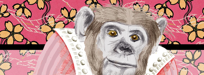 Dessin d'une singesse rigolote
