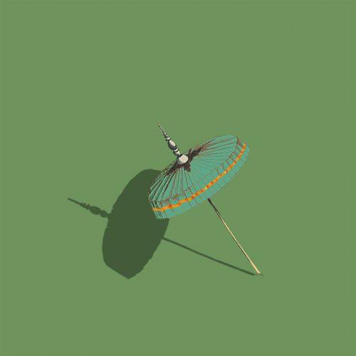 dessin illustration ombrelle vert - birmanie-sophie de Boissieu