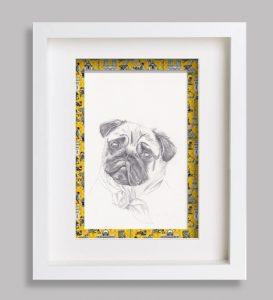 portrait-animalier-dessin croquis jaune