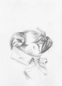 portrait animalier dessin croquis robespierre grand format