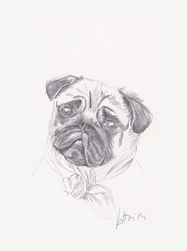 carlin - Portrait sur mesure 21 X 30 cm